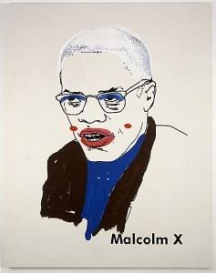 Glenn Ligon, Malcolm X #1 (small version #2), 2003, © Glenn Ligon